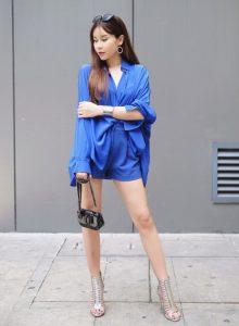 Lưu Hương Giang khoe vóc dáng nuột nà trong bộ đồ xanh navy