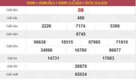 Thống kê XSTN 20/8/2020 chốt KQXS Tây Ninh thứ 5