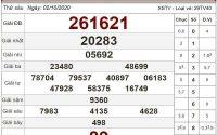 Thống kê KQXSTV ngày 09/10/2020- xổ số trà vinh chi tiết
